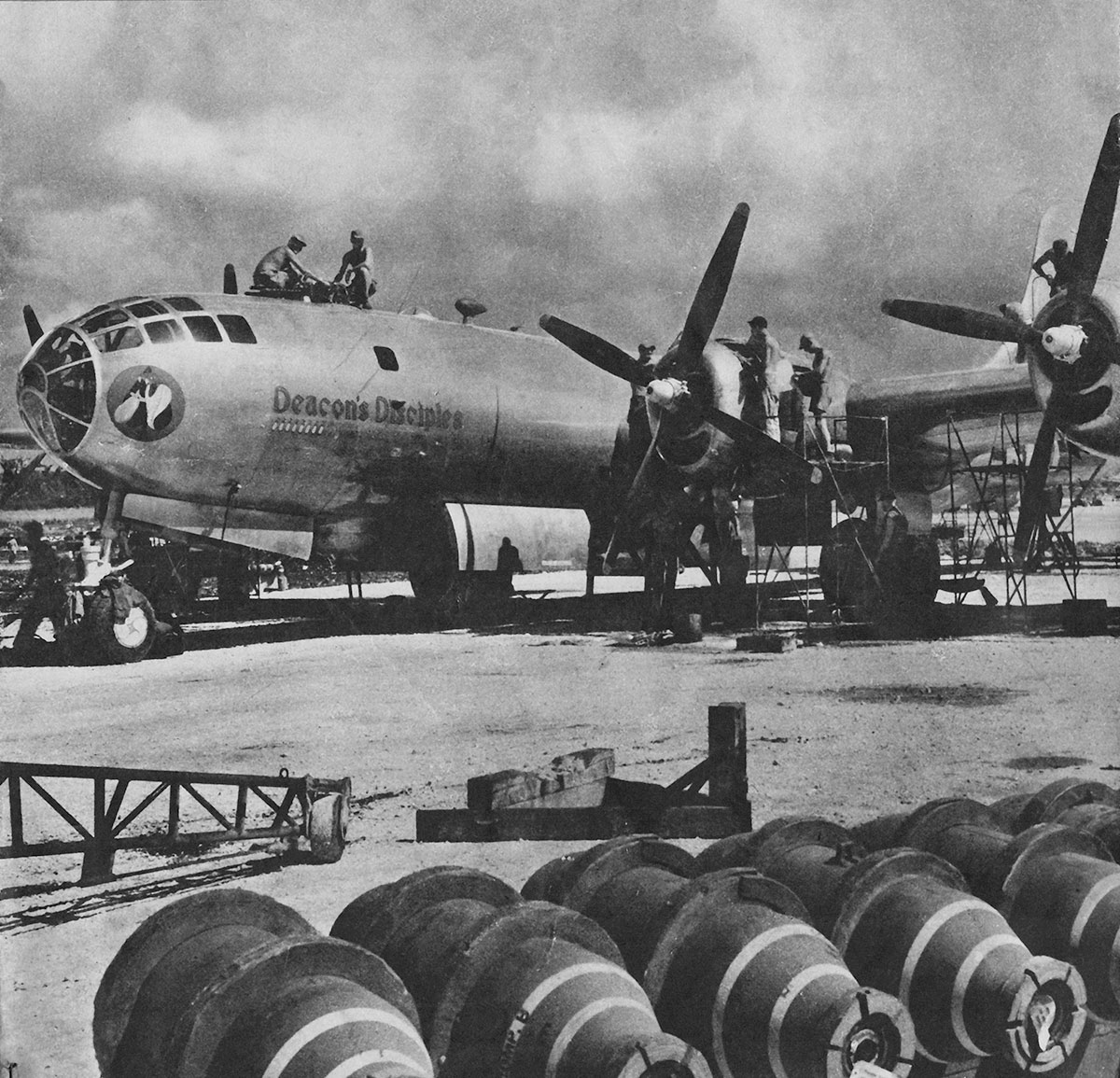 Marianas, that B-29's fixed aircraft carrier in the Pacific was built 72 years ago.