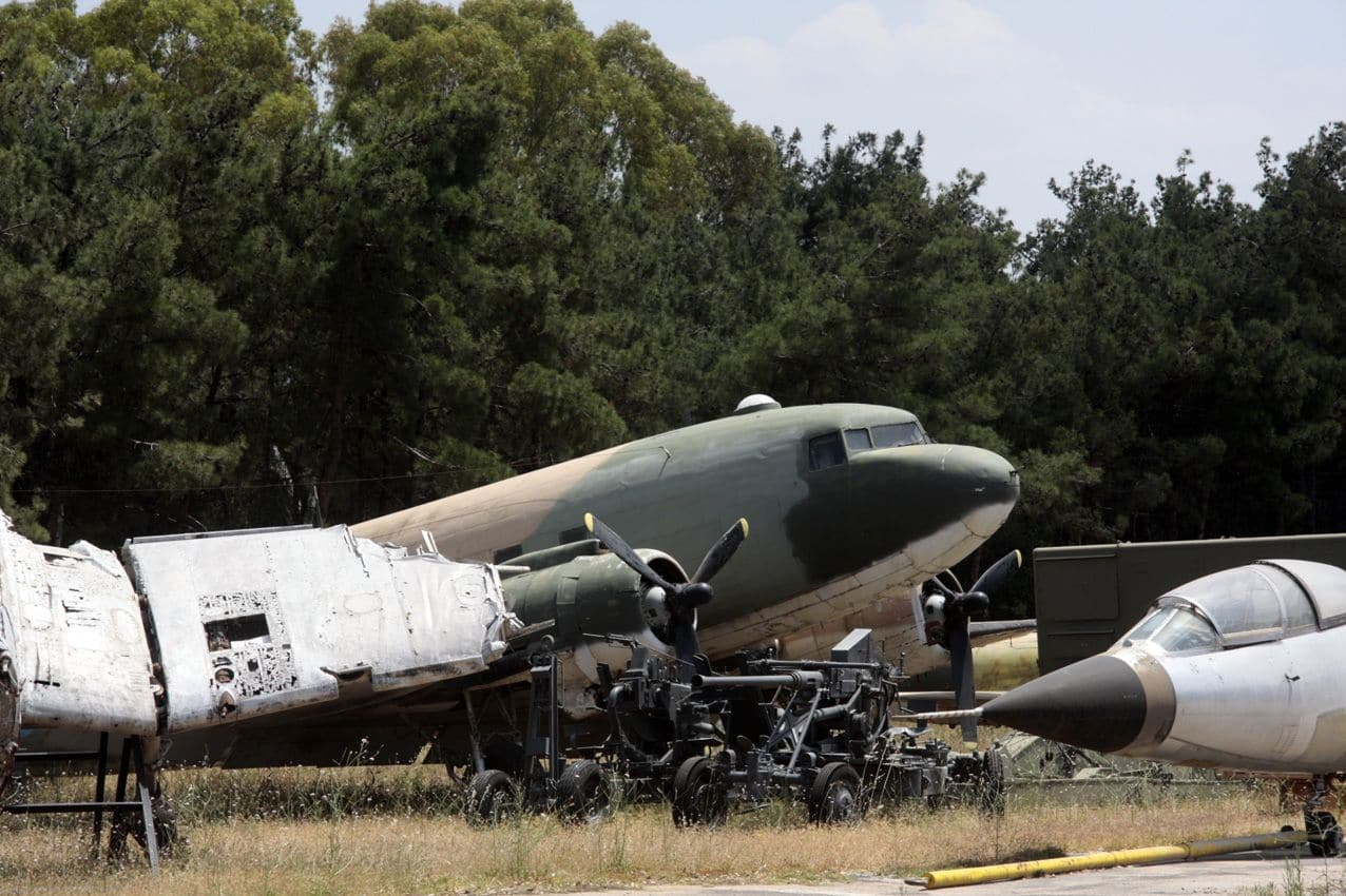 Hidden Boneyard in Greece with German Ju-52, Stuka, C-47 and Lockheed F-104 Starfighter.